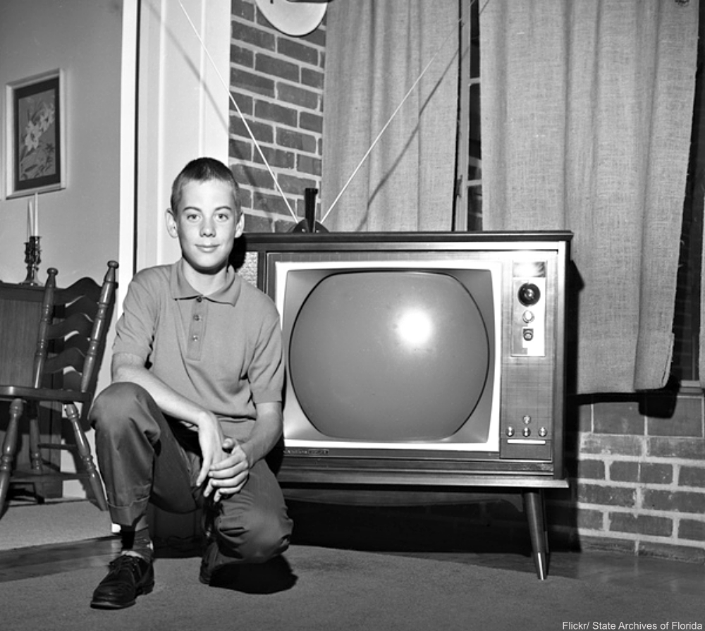Boy with the Family Television Set 1950s