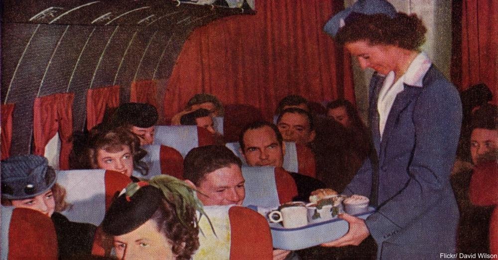 1960s Flight postcard