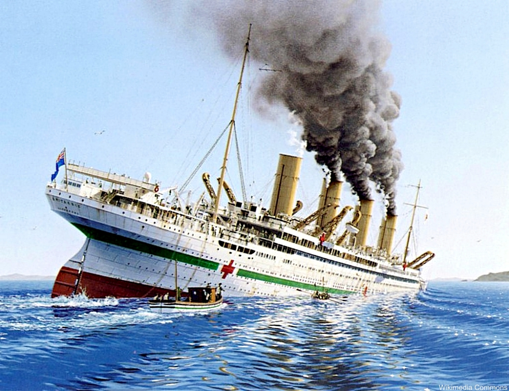interpretation of HMHS Britannic sinking