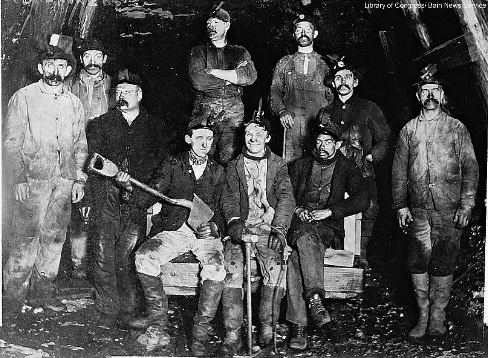 Bain News Service image of coal miners