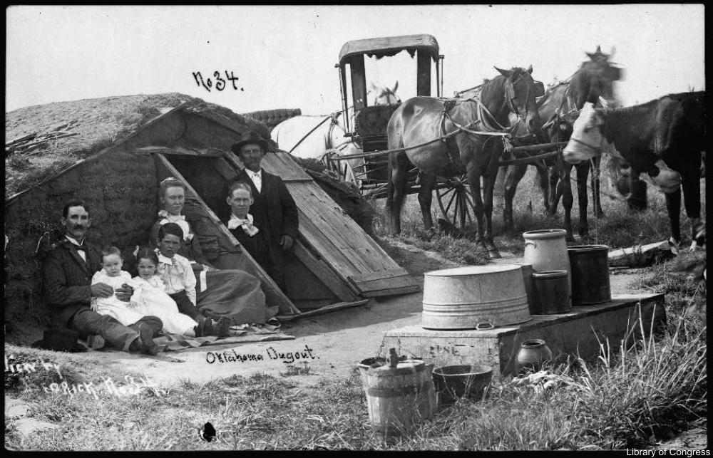 Dugout house Oklahoma 1909