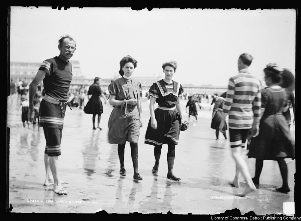 late 19th century bathing suits