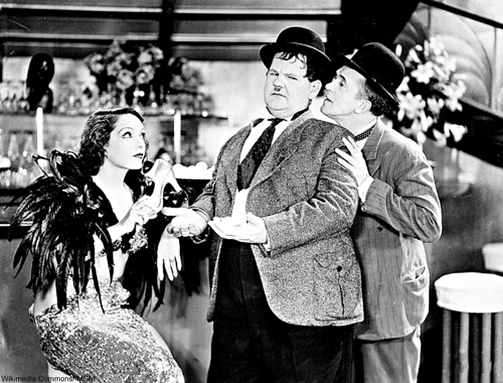 Laurel and Hardy with Lupe Velez