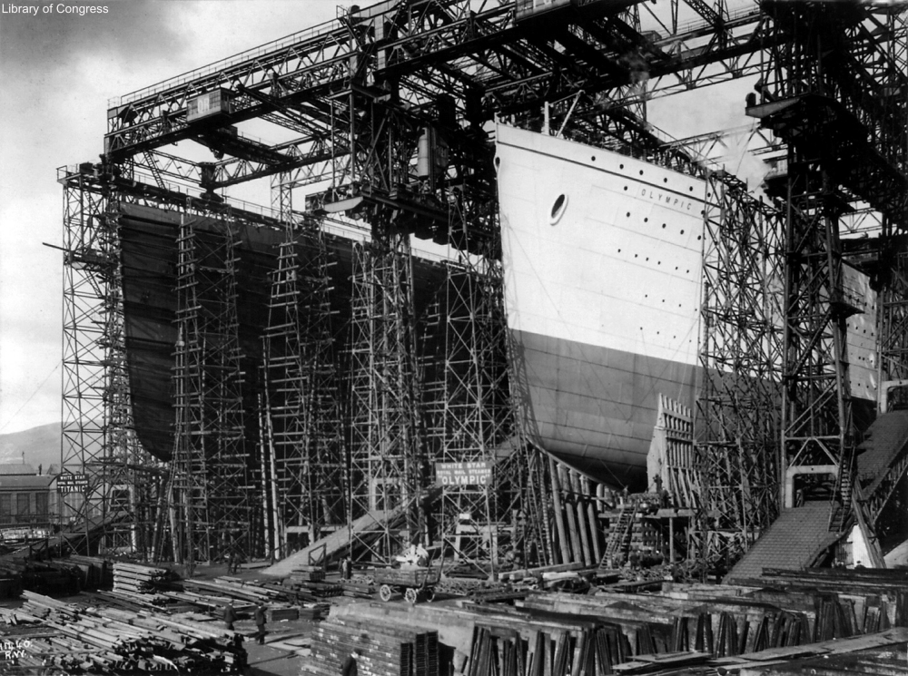 RMS Olympic during construction