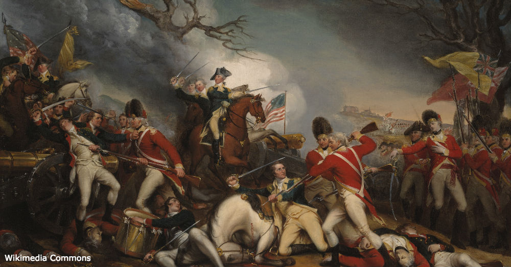 The Death of General Mercer at the Battle of Princeton, January 3, 1777 by John Trumbull.