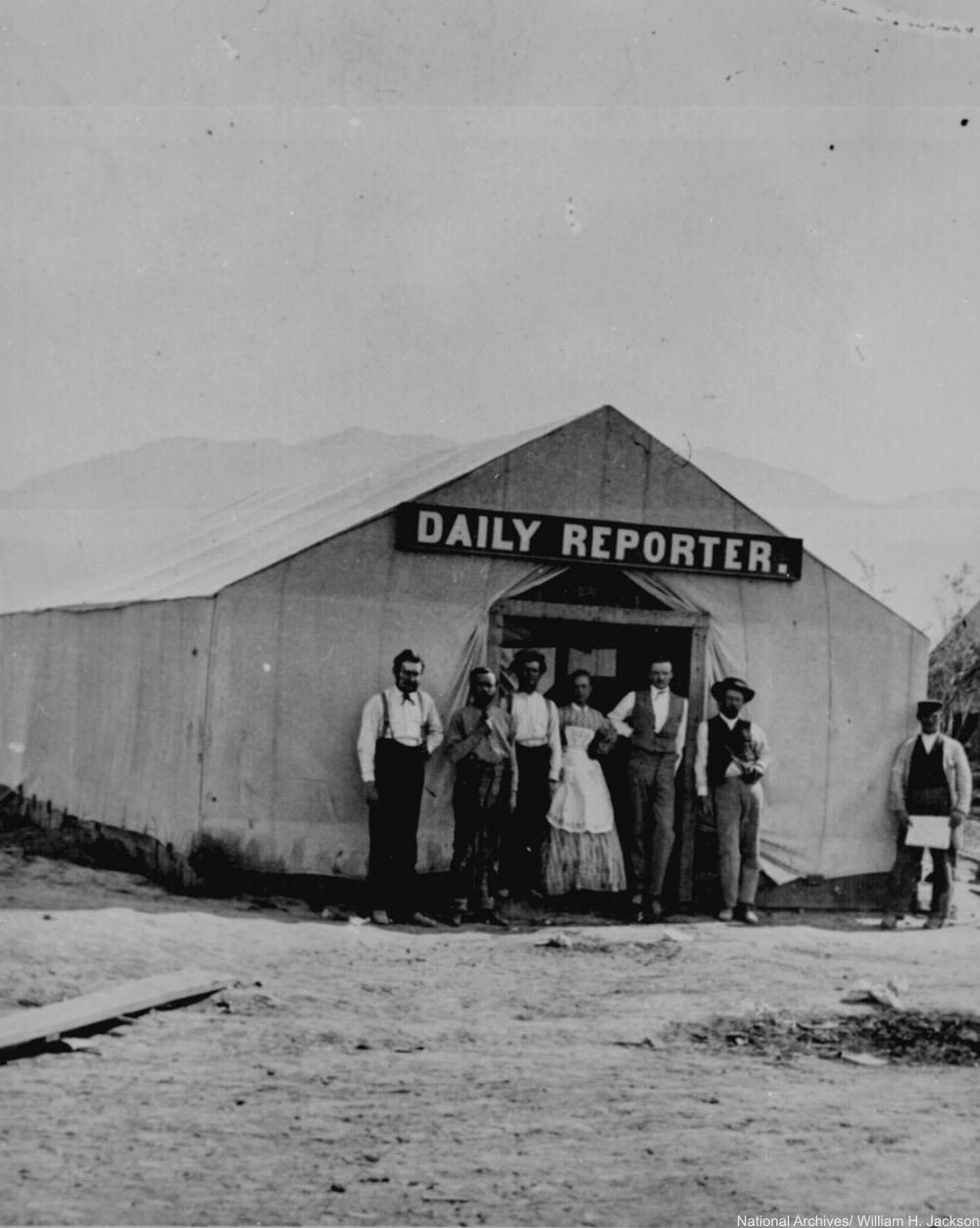 Daily Reporter Building 1869 Utah