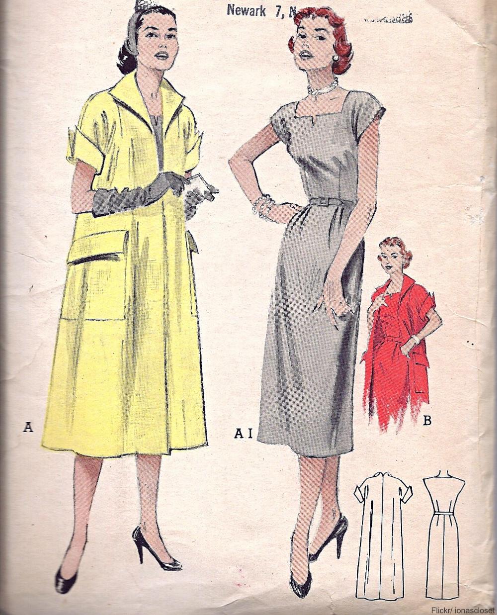 1950s dressmaking pattern