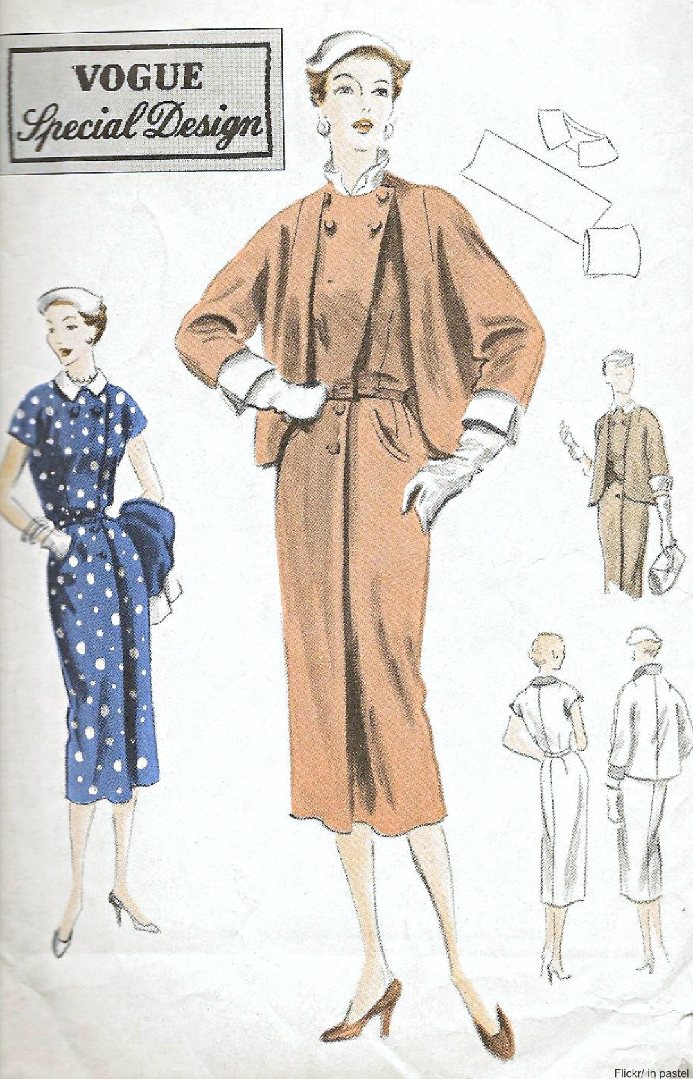 1950s Vogue dress pattern