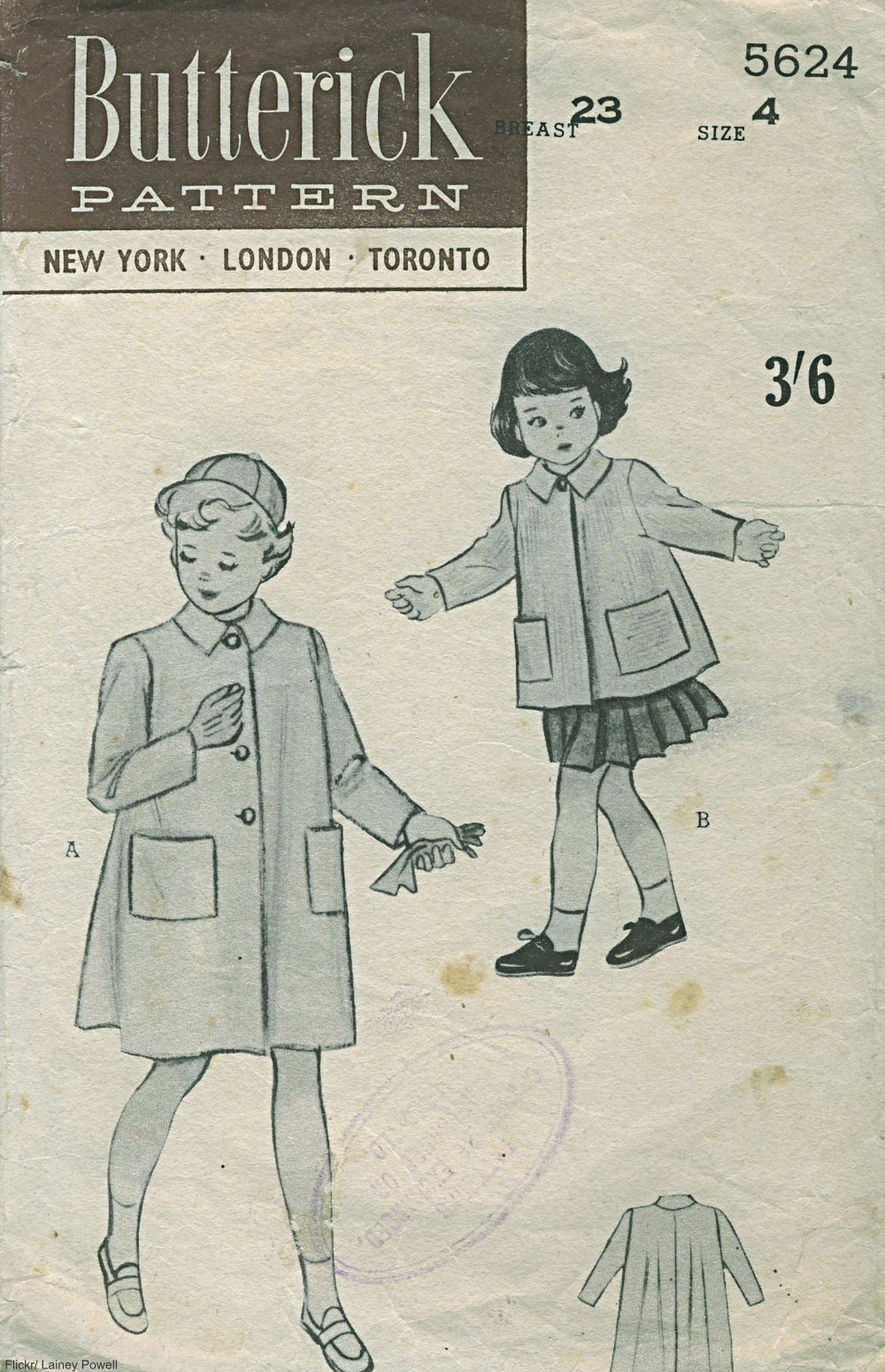 vintage children's coat pattern