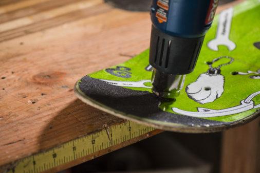 skateboard photos_1 - use a heatgun to loosen glue