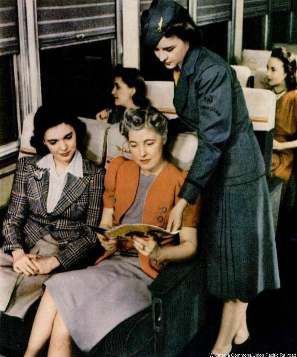 Challenger train stewardess 1941.