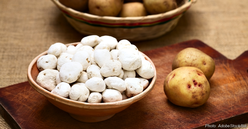 Tunta, also called white chuno or moraya, is a freeze-dried (dehydrated) potato made in the Andes region, mainly Bolivia and Peru.