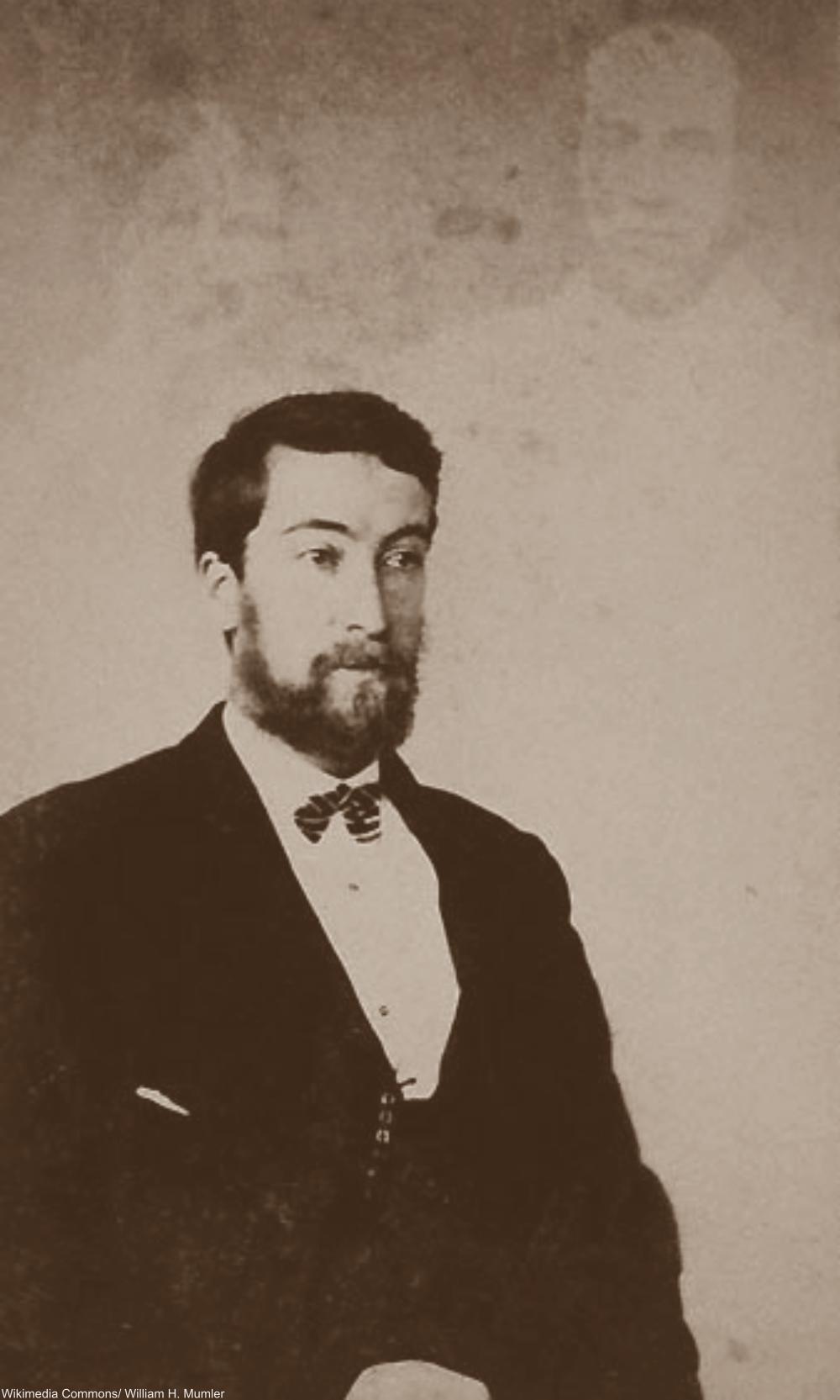 Spirit photography by known fraudster William Mumler, 1870.