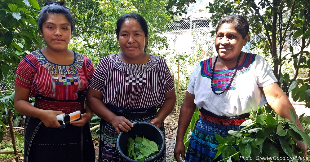 Maria grew up in Panajachel, Guatemala, learning ancient traditions from her family.