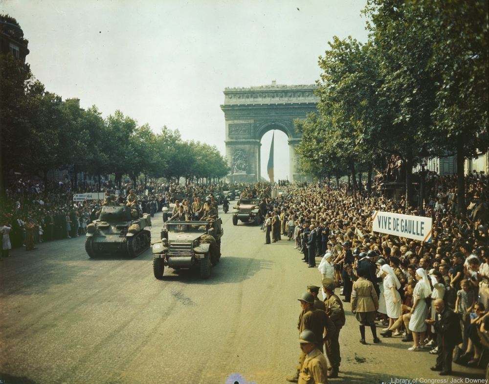The Arc de Triomphe in 1944.