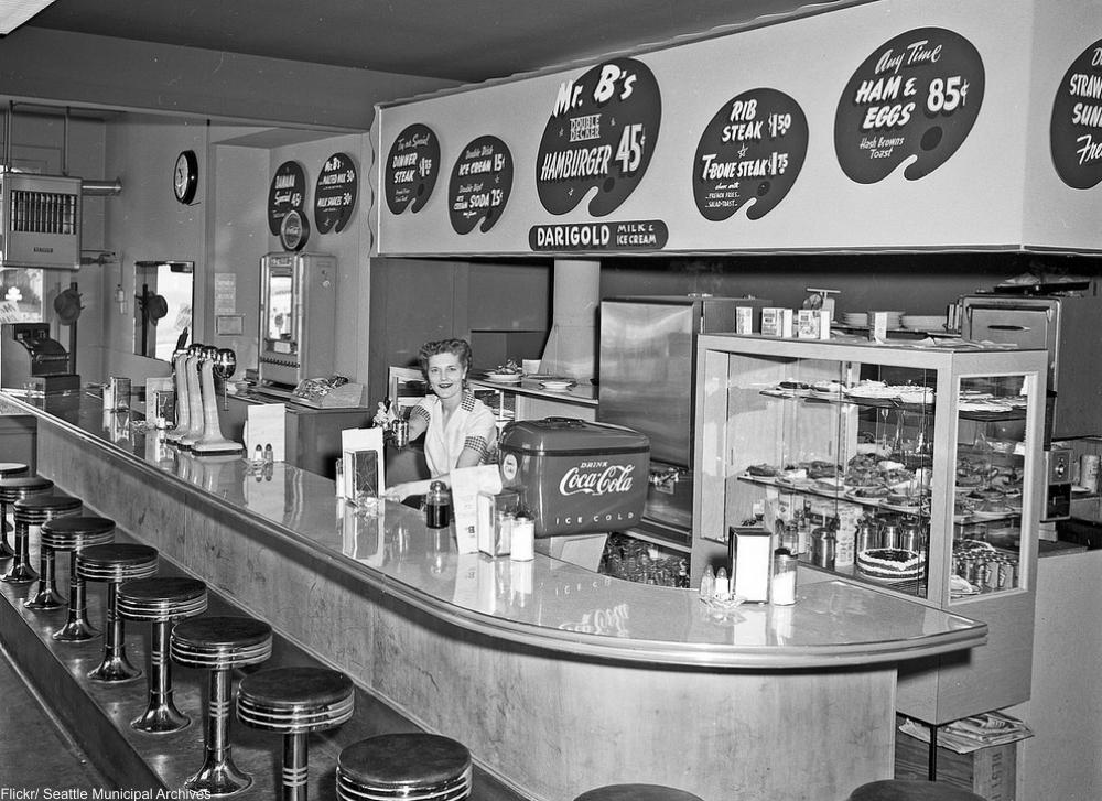 Mr. B's Hamburgers, 1954.