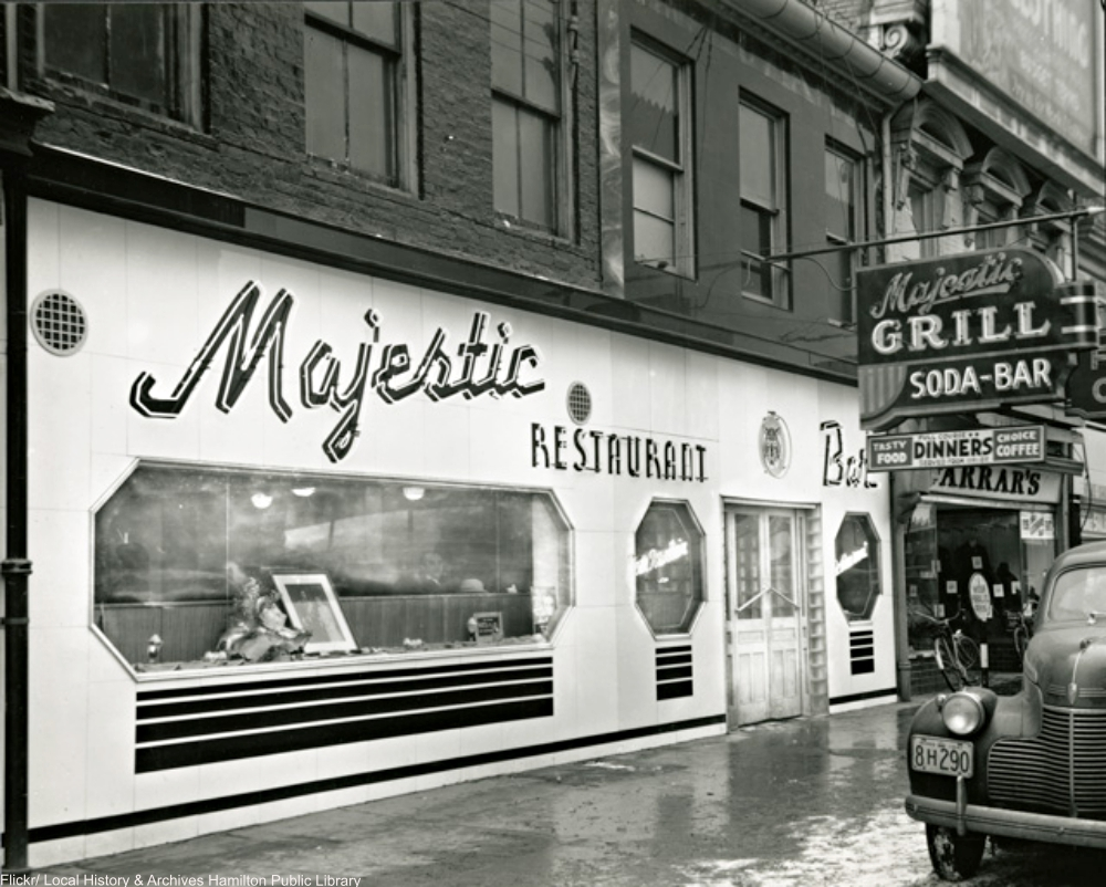 The Majestic Restaurant in 1933.