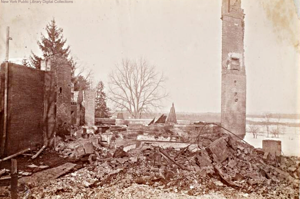 Ruins of Yaddo Mansion after the fire in 1893.