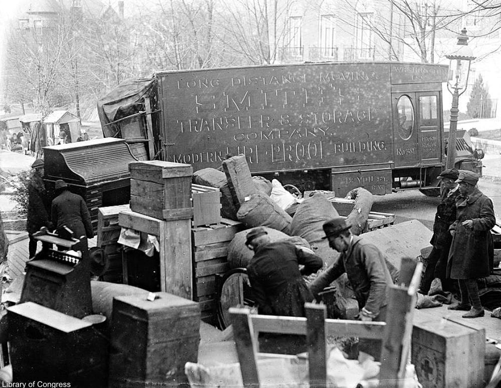 How moving day used to be