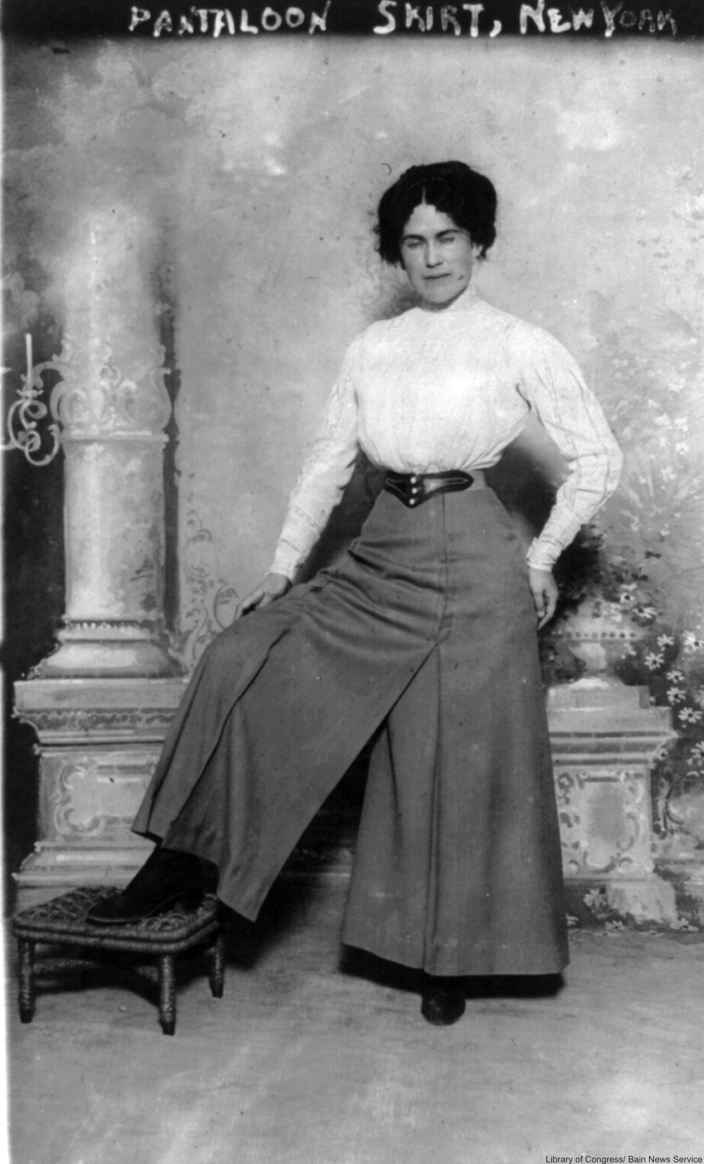 the history of the first women's pants