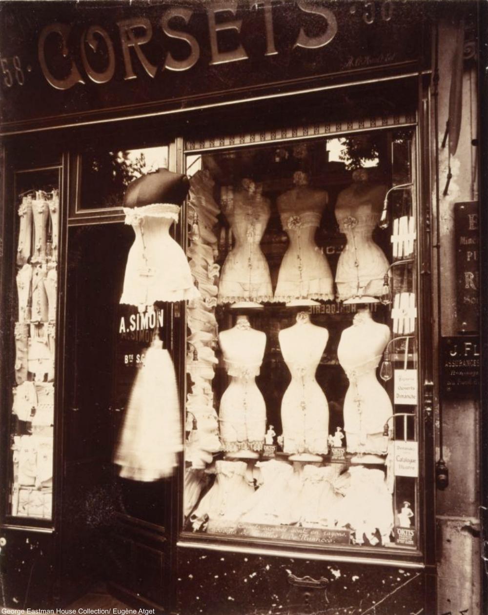 Boulevard de Strasbourg by Eugène Atget 1920s Shop Windows