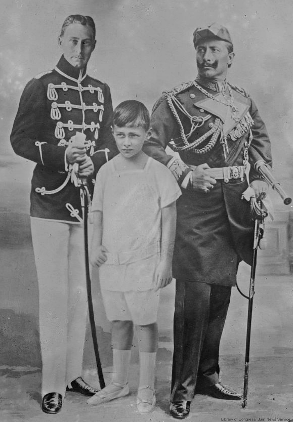 Photomontage of German royalty circa 1910.