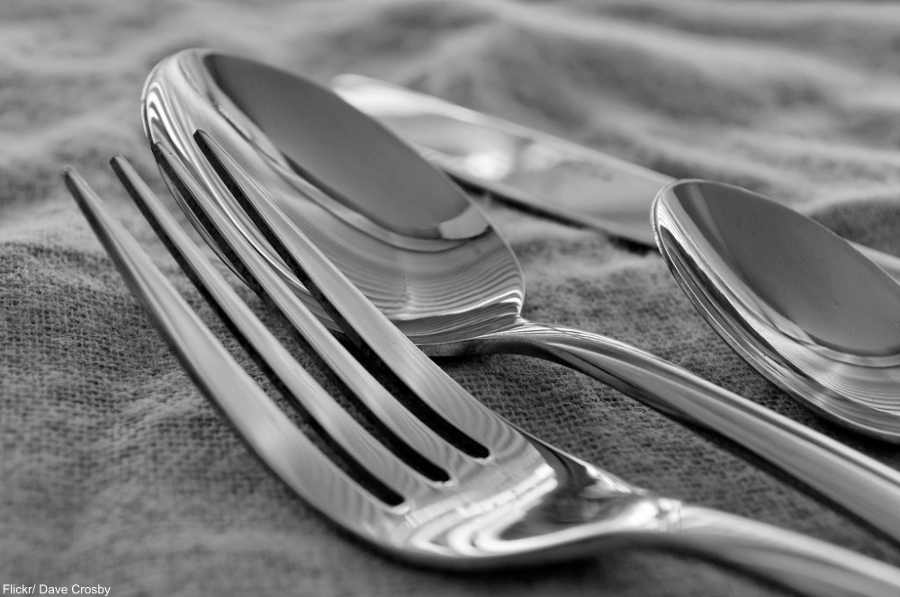 use your silverware -etiquette
