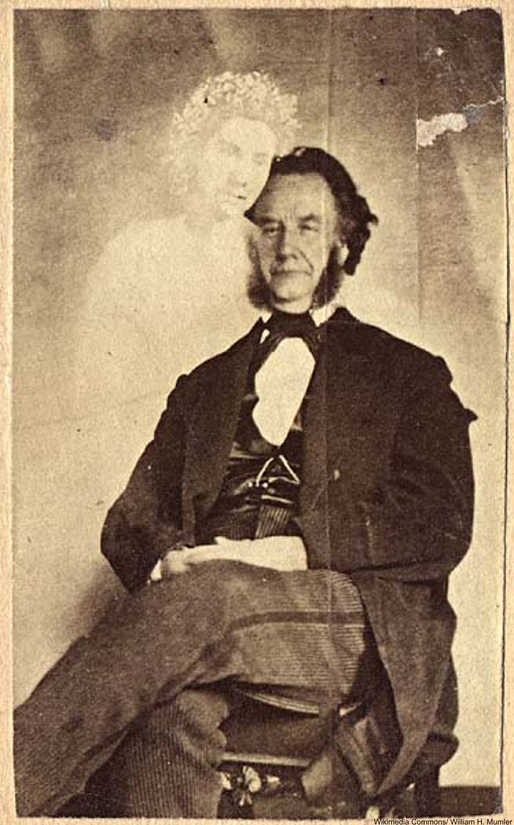 Moses A. Dow, Editor of Waverley Magazine, with the spirit of Mabel Warren, 1871