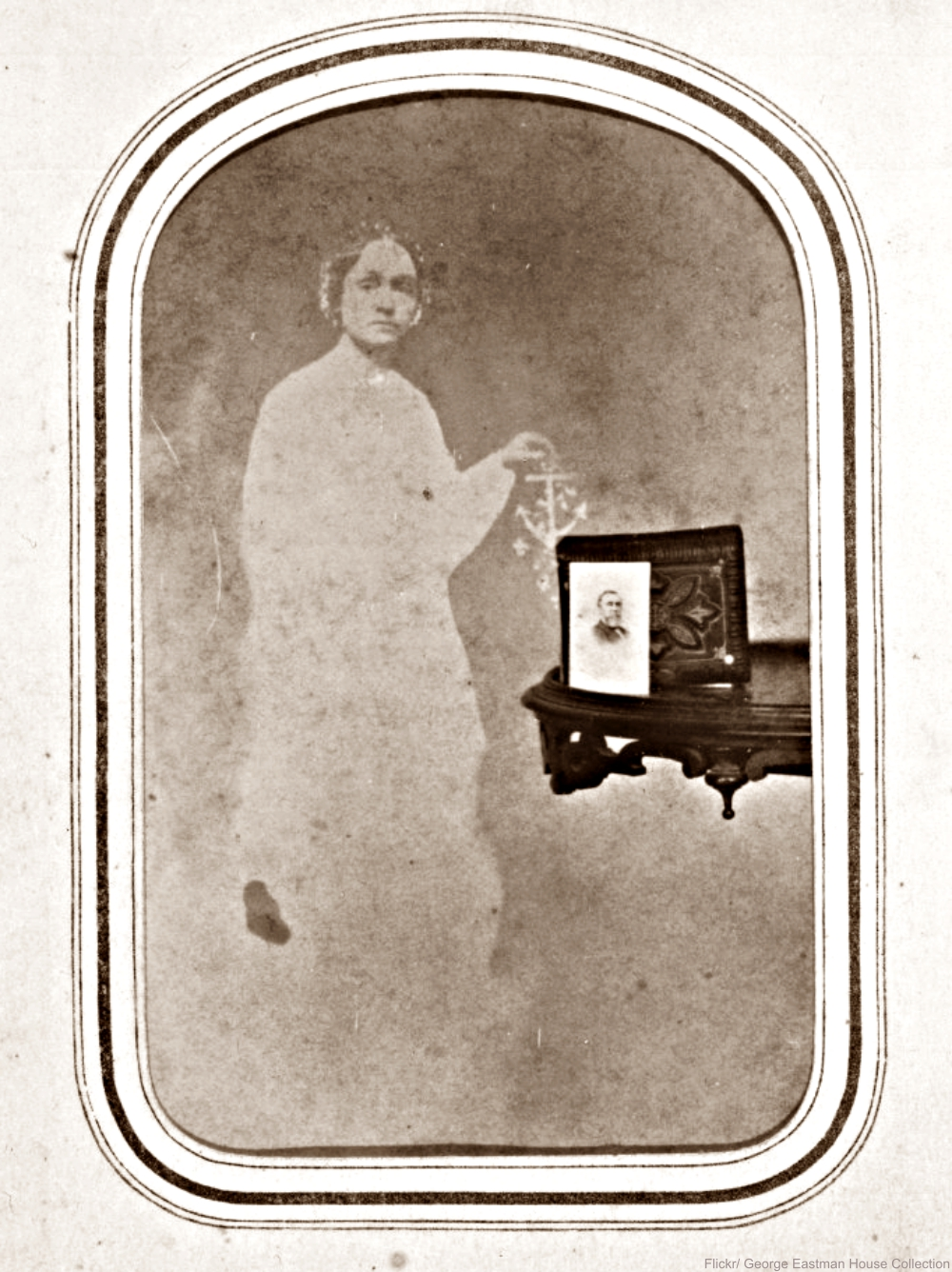 Spirit photography circa 1865.