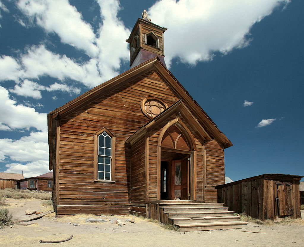 The church in Bodie (photo via Thomas.fanghaenel).