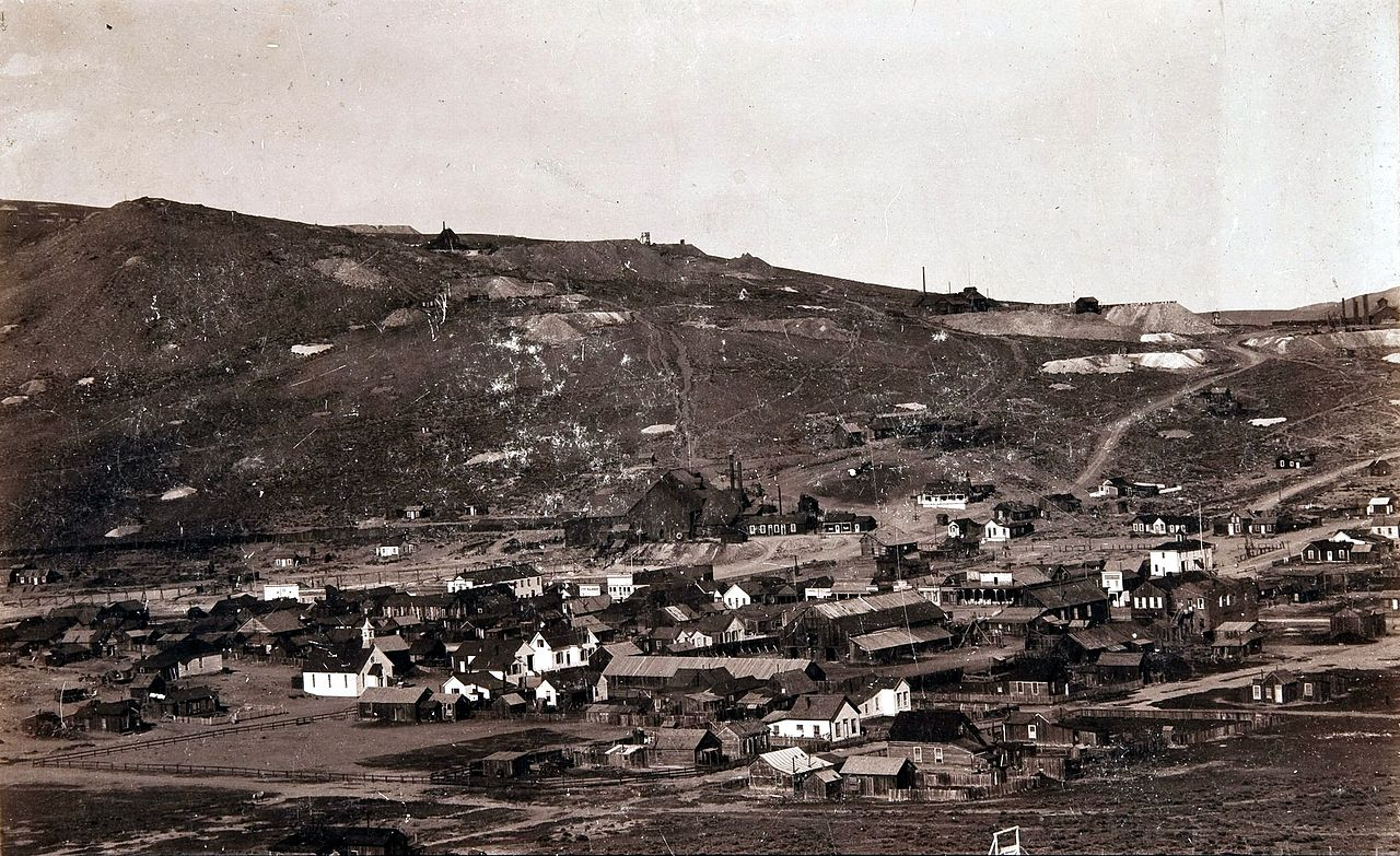 Bodie in 1890 (photo via William Thompson, Virginia City, Nevada. - Heritage Auction Gallery)