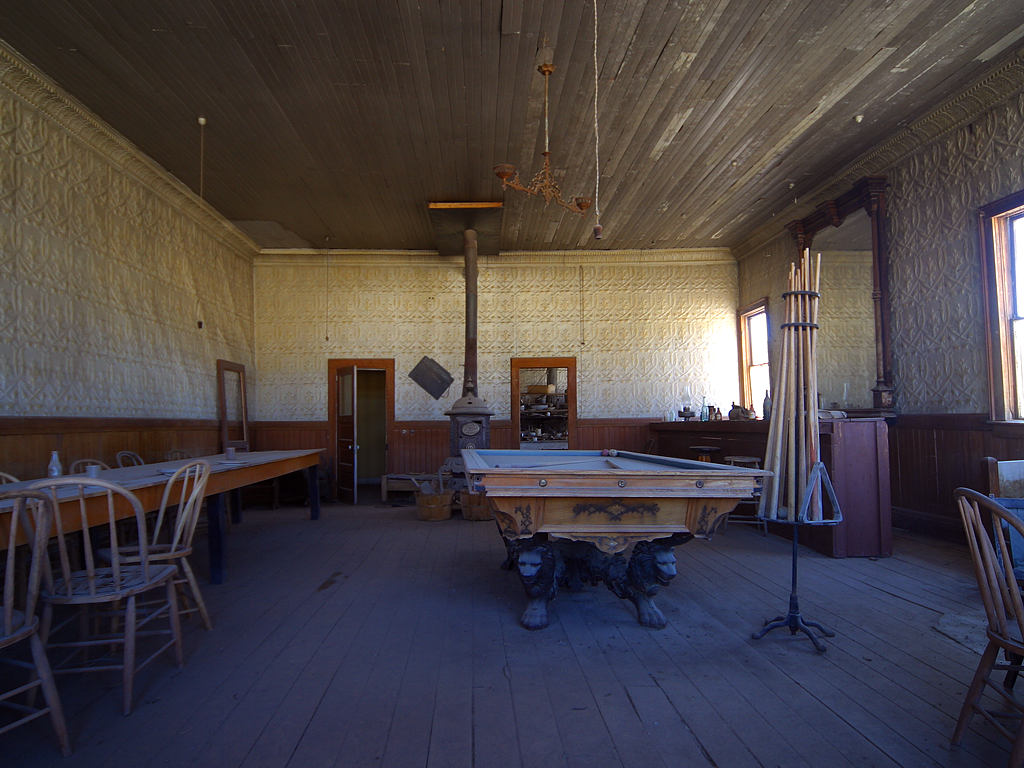 The interior of a Saloon in Bodie (Photo via Jon Sullivan).