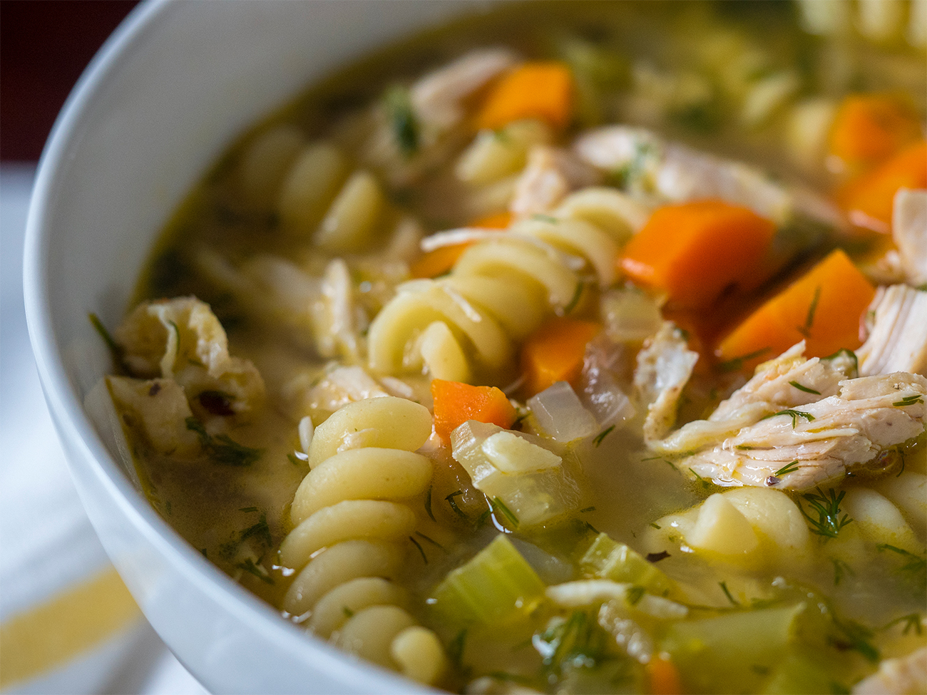 Flu fighter chicken noodle soup 12 tomatoes while traditional chicken soup is considered the epitome of comfort food weve made a few changes that we think take this above and beyond the classic forumfinder Images