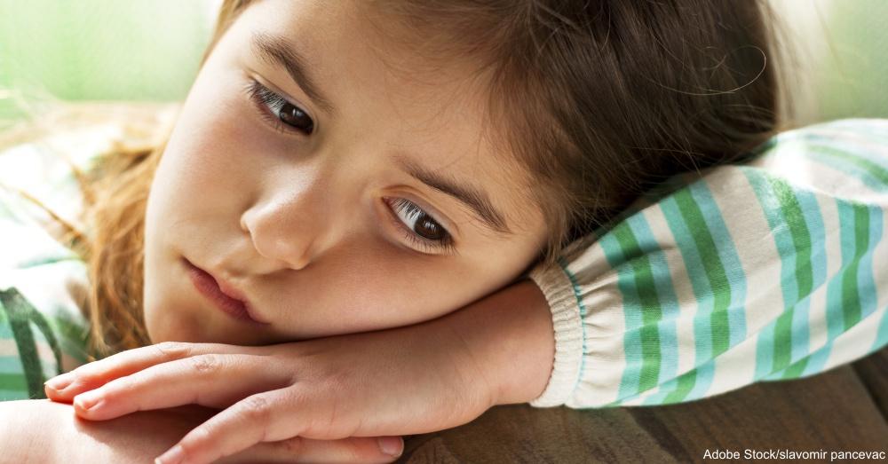 Lonely Child -Children's sad face