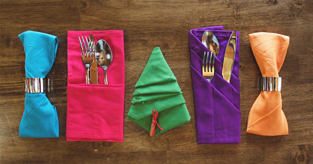 napkins 4 ways