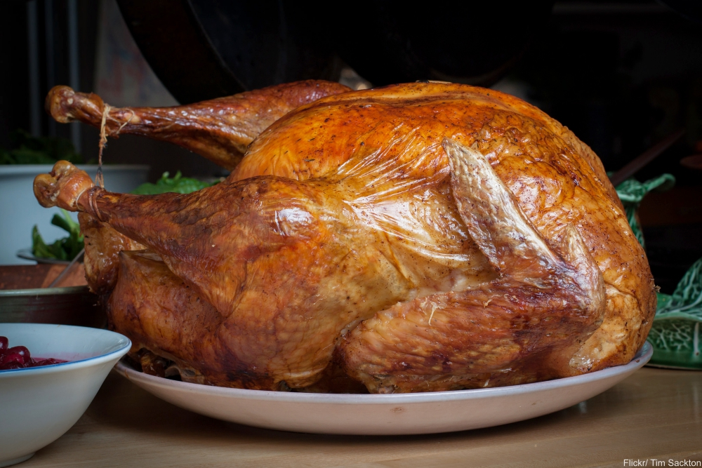 Which foods were served at the First Thanksgiving?