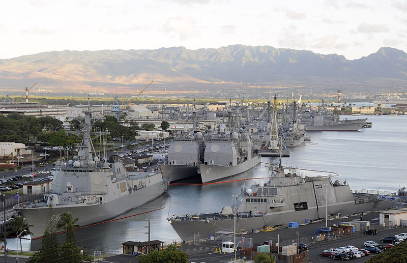Ships from 14 nations gather at Joint Base Pearl Harbor-Hickam in Honolulu, HI.