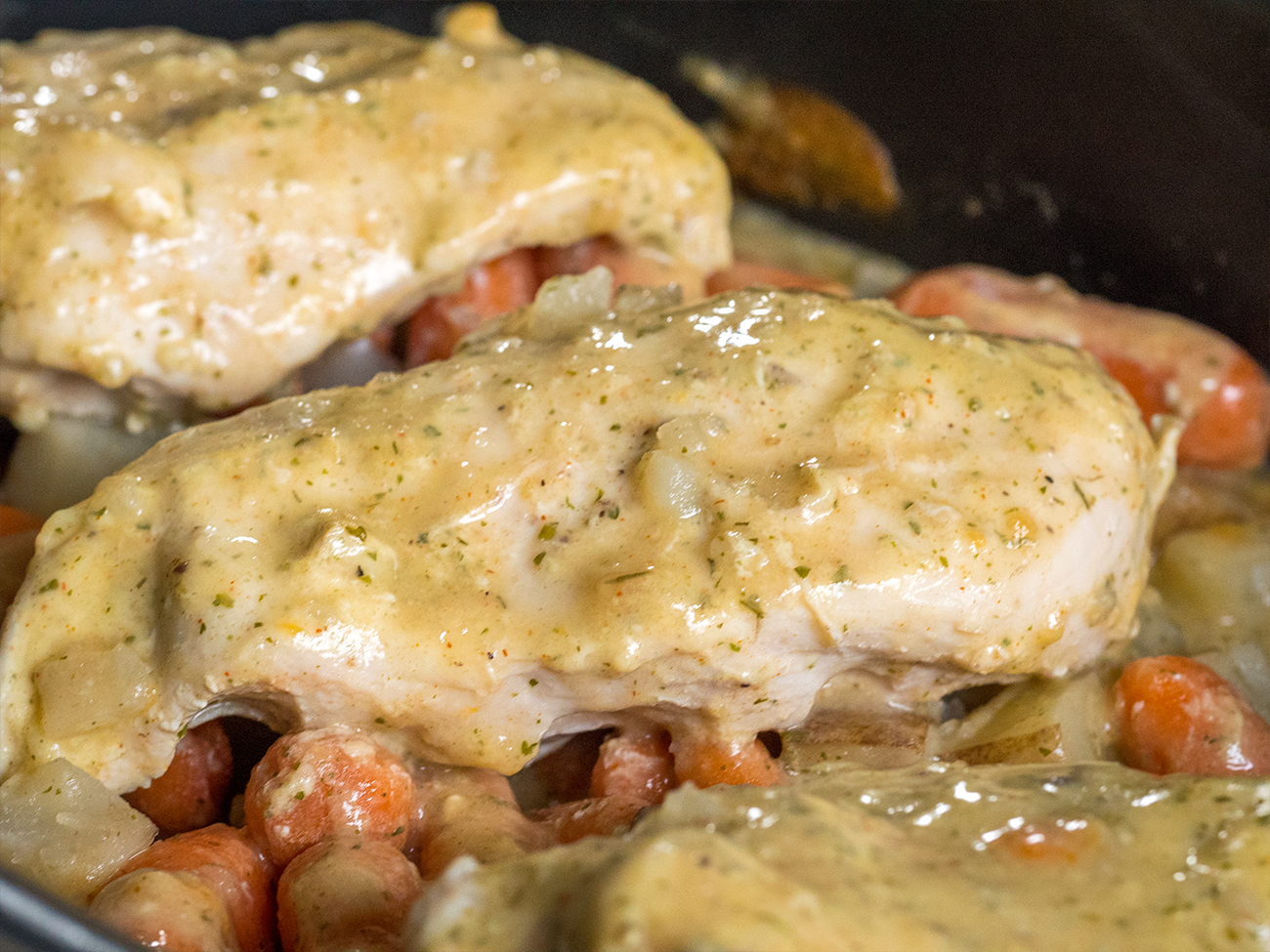 Slow Cooker Ranch Chicken Horizontal 3