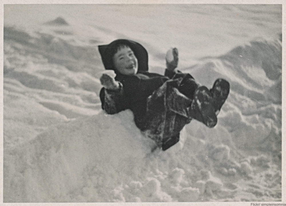 Back in the day skating and sledding were how had fun in winter!