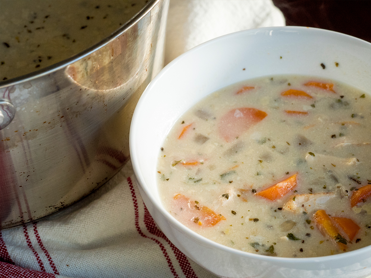 Chicken and Wild Rice Soup Horizontal 3
