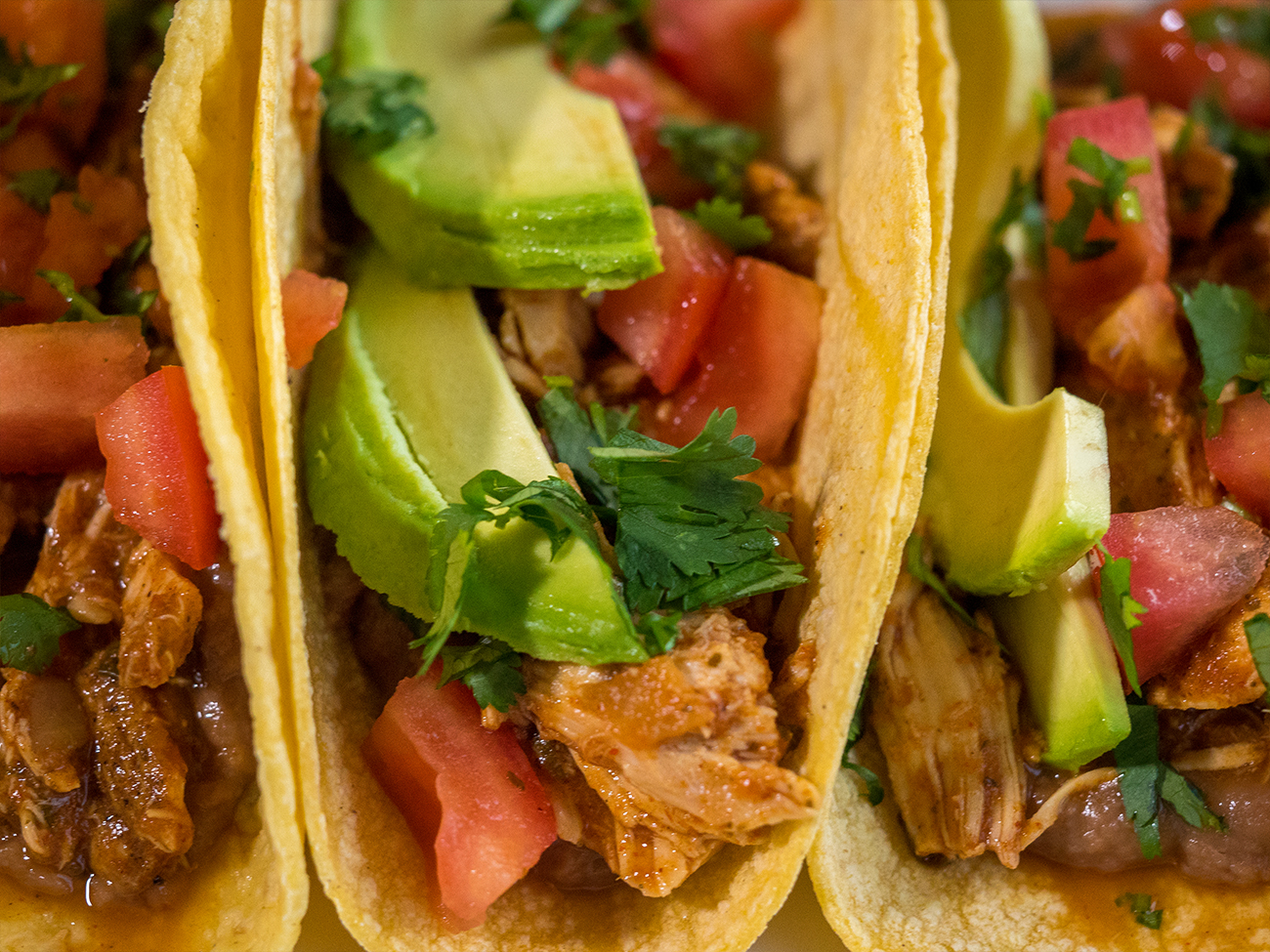 Slow Cooker Cilantro Lime Chicken Tacos Horizontal 3