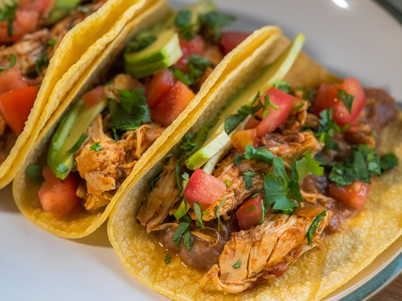 Slow Cooker Cilantro Lime Chicken Tacos Horizontal 4