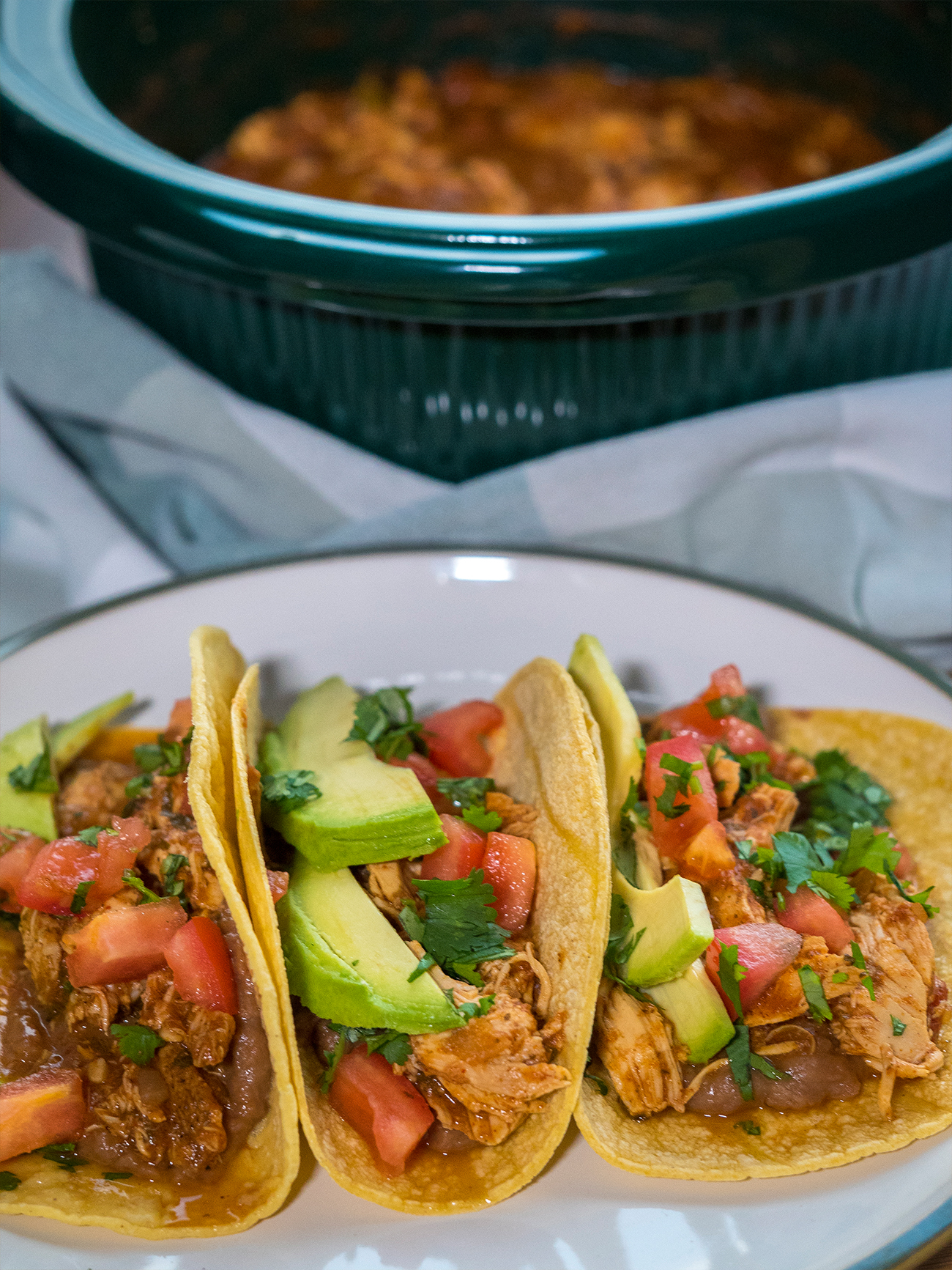 Slow Cooker Cilantro Lime Chicken Tacos Vertical 3