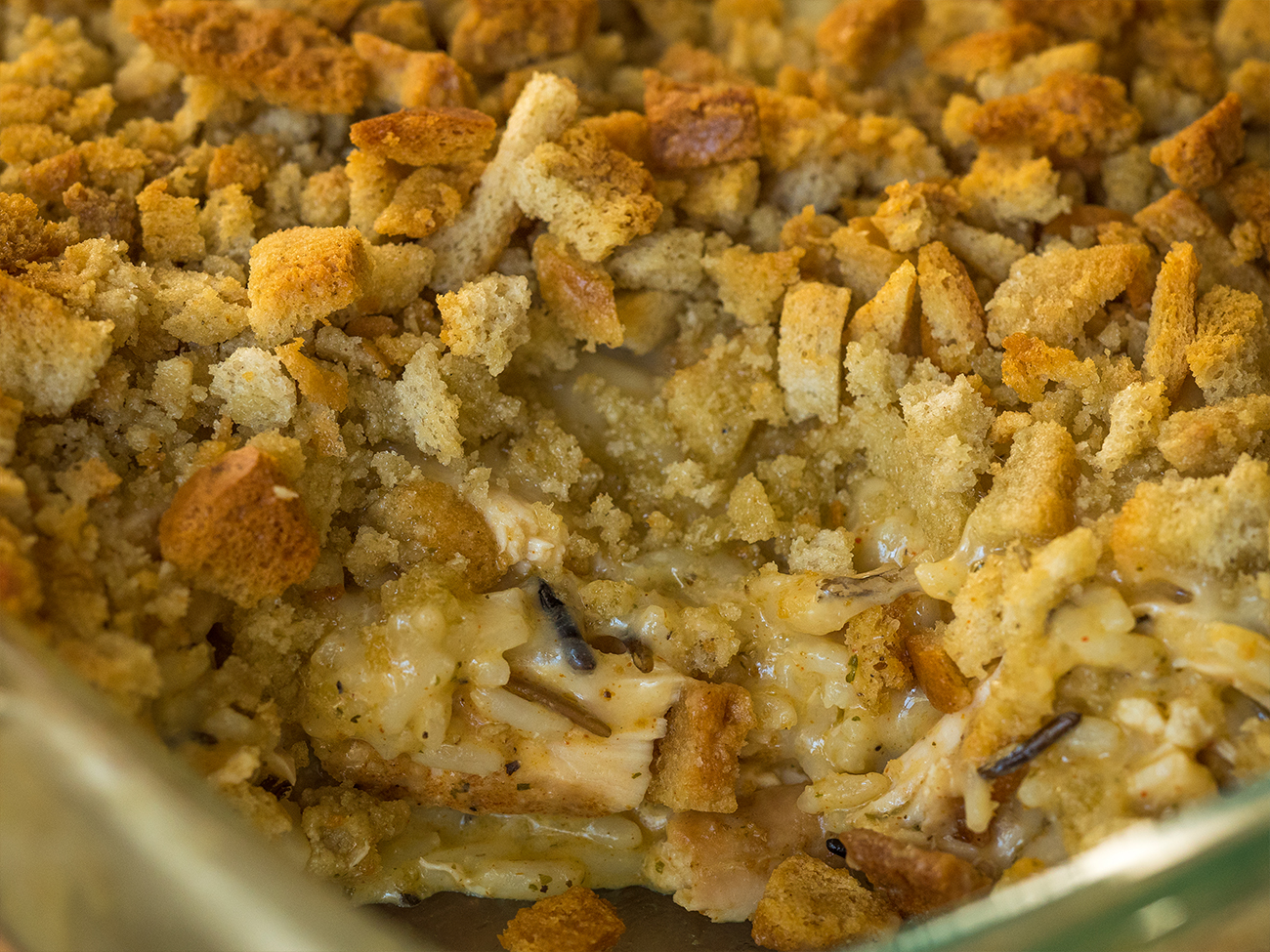 Wild Rice and Chicken Casserole Horizontal 4