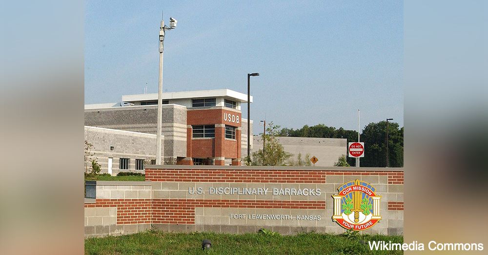 The U.S. Disciplinary Barracks at Fort Leavenworth.