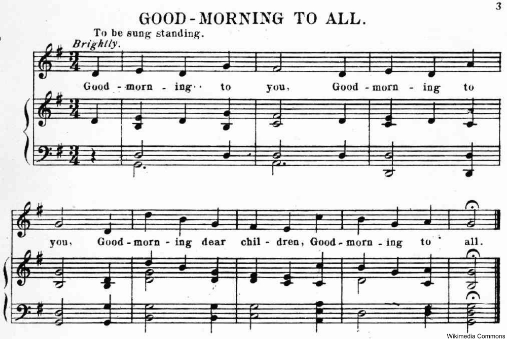 The Origin of the Happy Birthday Song