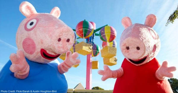 Peppa Pig is such a popular show that it has its own theme park within Paultons Family Theme Park in England—the country where the show originated.