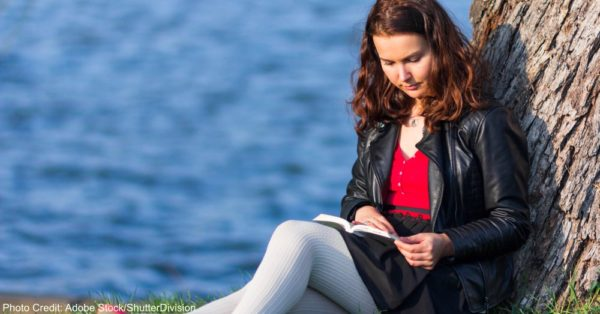 Reading in park