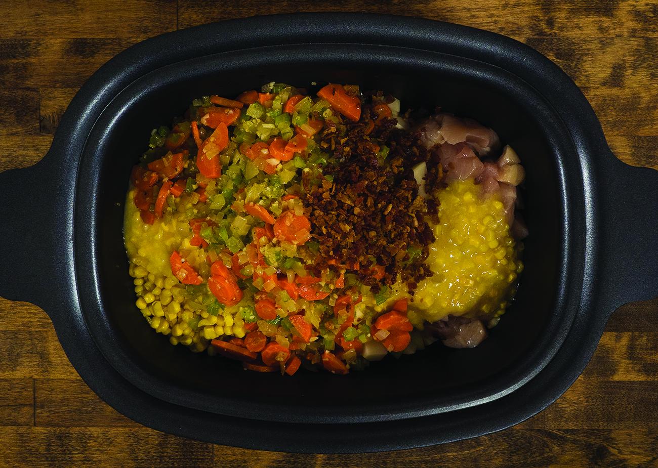 Lightened Up Slow Cooker Chicken Corn Chowder Horizontal 1