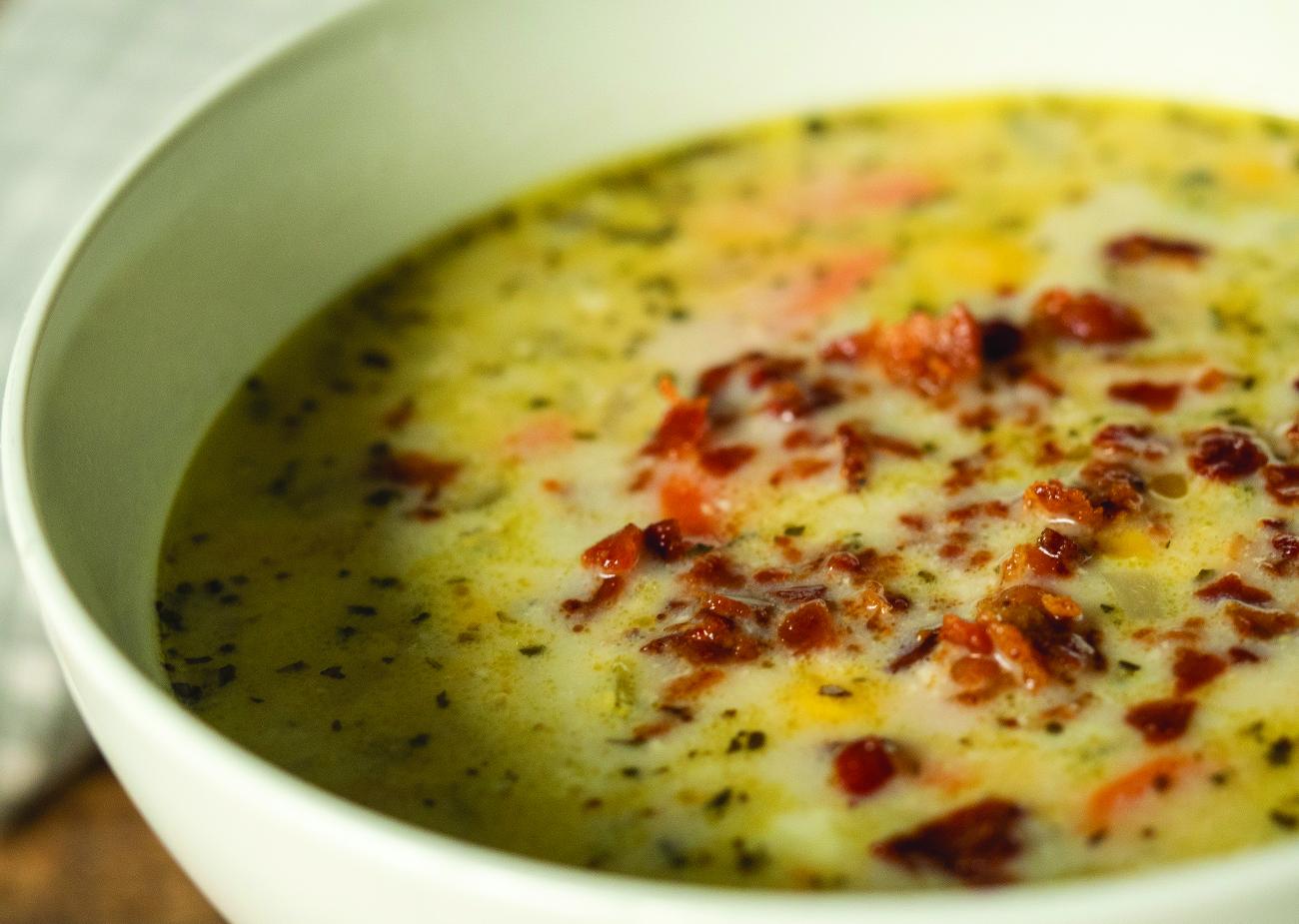 Lightened Up Slow Cooker Chicken Corn Chowder Horizontal 3
